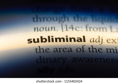 subliminal word in a dictionary. subliminal concept.