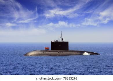 Submarine sailing