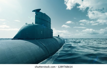 Submarine in the sea