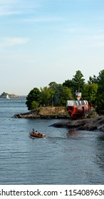 Submarine in Suomenlinna, or Castle of Finland in English, an island fortress in the Gulf of Finland, protecting the capital city of Helsinki. Suomenlinna is an UNESCO World Heritage Site.