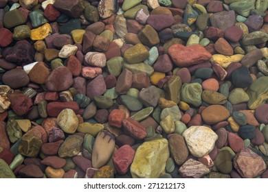 Submerged lake stones