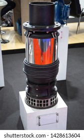 Submersible pump for suctioning collected ground water from a sump pit