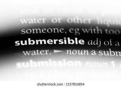 submersible word in a dictionary. submersible concept.