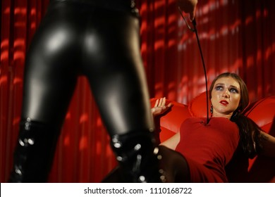 Submission role playing and domination games between two women