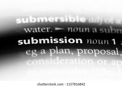 submission word in a dictionary. submission concept.