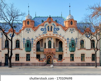 Subotica, House of architect Ferenc Raichle in Hungarian Art Nouveau style, Serbia