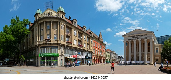 Subotica / SERBIA - 06.07.2019: downtown of Subotica