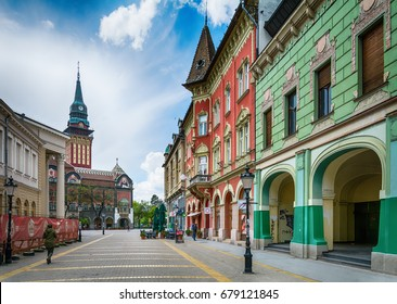 Subotica, Serbia - April 23, 2017: Retro building in Subotica city, Serbia