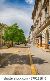 Subotica, Serbia - April 23, 2017: Main street in Subotica city, Serbia
