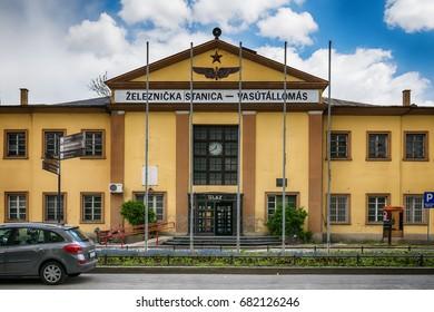 Subotica, Serbia - April 23, 2017: Subotica Railroad Station, Serbia