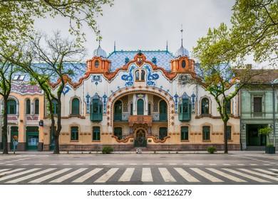 Subotica, Serbia - April 23, 2017: The Raichle palace in Subotica, Serbia