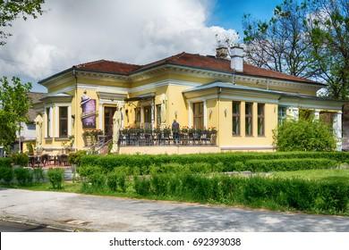 Subotica, Serbia - April 23, 2017: Restaurant Borsalino in Subotica city, Serbia