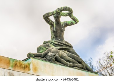 Subotica, Serbia - April 23, 2017: Monument to the victims of fascism in Subotica city, Serbia