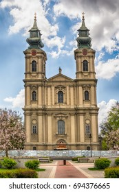 Subotica, Serbia - April 23, 2017: Cathedral of St. Theresa of Avila in Subotica city, Serbia