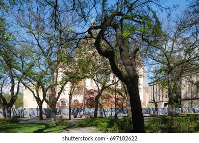 Subotica, Serbia - April 23, 2017: Jewish synagogue in Subotica city, Serbia