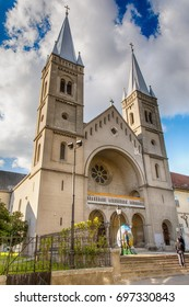 Subotica, Serbia - April 23, 2017: The Franciscan monastery and the church are dedicated to Saint Michael, Subotica - Serbia