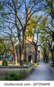 Subotica, Serbia - April 23, 2017: Evangelical Christian Church of Augsburg Religious Studies in Subotica town, Serbia