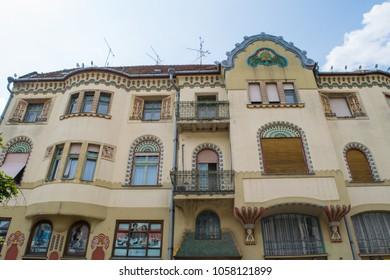 SUBOTICA, SERBIA - CIRCA JULY 2017: Art nouveau architecture of a building the town centre