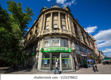 SUBOTICA, SERBIA - JULY 1, 2018: OTP Bank (OTP Banka) logo on their main office for Subotica OTP Bank Group is one of the largest Hungarian banks, spread accross in Central and Eastern Europe