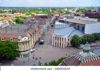 SUBOTICA, SERBIA - MAY 8:City of Subotica panoramic view on May 8. 2018. in Subotica, Serbia