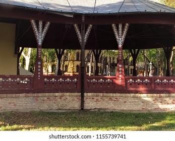 Subotica, Serbia-04.23.2018. Beautiful architectural art