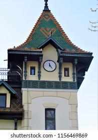 Subotica, Serbia-04.23.2018. Beautiful houses