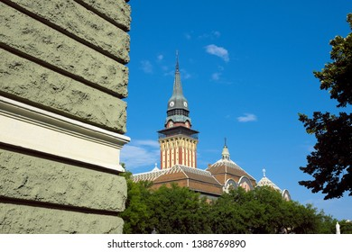 Subotica Tower City Hall in the city center, Serbia