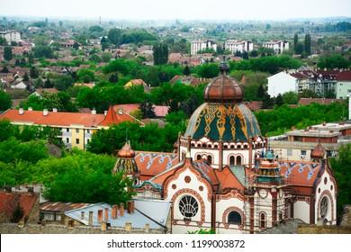 SUBOTICA / VOJVODINA, SERBIA - APRIL  24,2018 -View of city Subotica,Serbia.Subotica is second town in the region of Vojvodina.