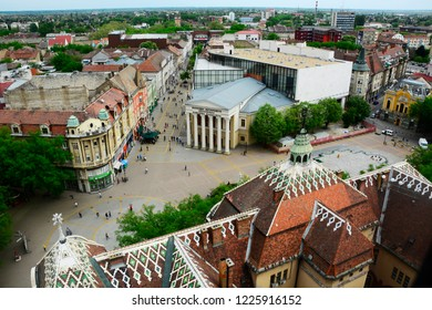 SUBOTICA / VOJVODINA, SERBIA - APRIL 24,2018 -View of city Subotica,Serbia.Subotica is second town in the region of Vojvodina.
