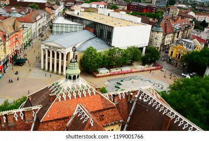 SUBOTICA, VOJVODINA, SERBIA - April 24,2018-Building of the National Theatre in the Freedom Square located in the city center