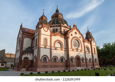 Subotica, Vojvodina / Serbia - June 11th  2018: View of the renewed Jewish Synagogue