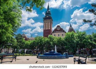 Subotica, Vojvodina, Serbia, June 16. 2018 streets and squares of the city