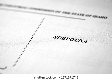Subpoena for Court Legal Documents Law