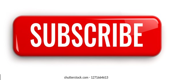 Subscribe Red Label Button. Isolated 3D Banner.
