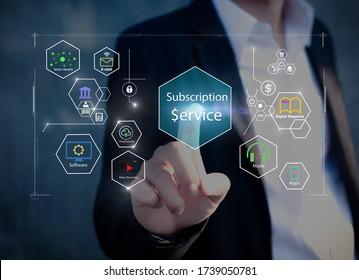 Subscription service business model concepts.
