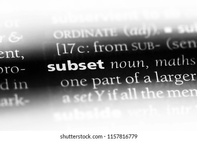 subset word in a dictionary. subset concept.