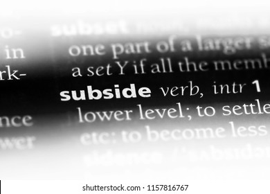 subside word in a dictionary. subside concept.
