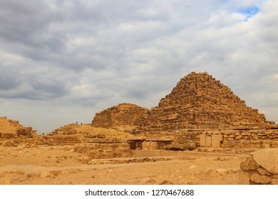 Subsidiary pyramids in the Giza Pyramid Complex in Cairo, Egypt
