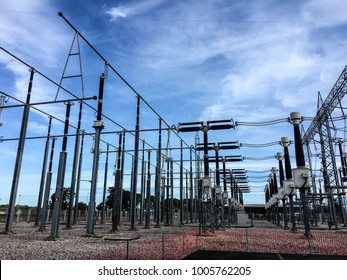 Substation in power plant.
