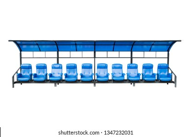 substitute seat for substitute player, manager and staff coach at the football stadium