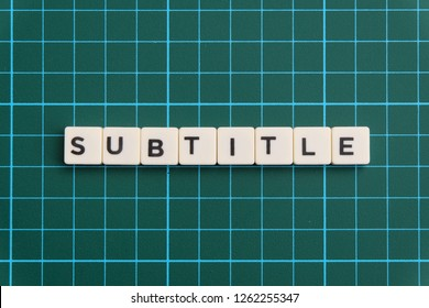 Subtitle Images, Stock Photos & Vectors | Shutterstock