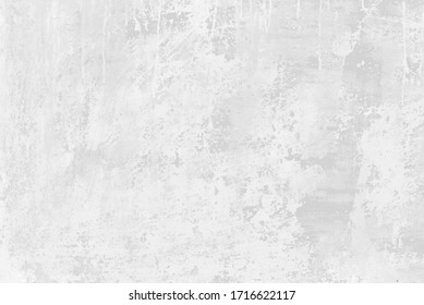 Subtle white washed wall texture background. Cool light soft grey pattern of concrete or cement surface. Abstract template for print or design.