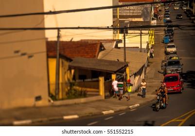 Suburb of the city of Votorantim, Brazil, photographed with tilt shift lens