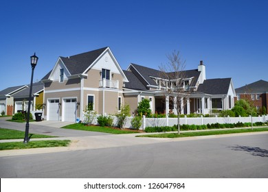 Suburban American New England Style Dream Home