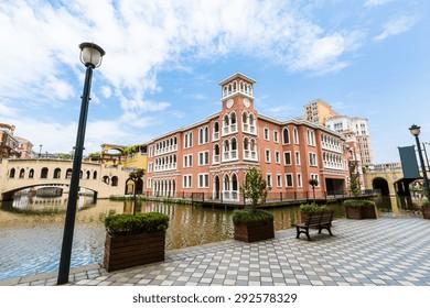 Suburban apartment buildings in hangzhou, China