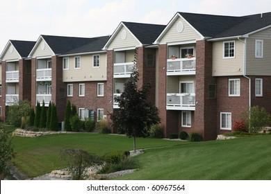 Suburban apartment complex