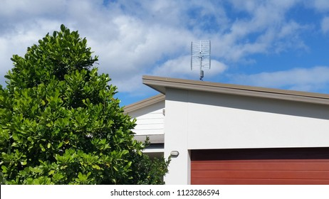 Suburban Architecture. Roof line, modern contemporary home, roof style