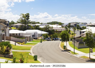 Suburban australian street during the day