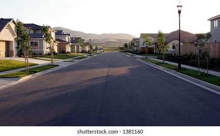 suburban california street.