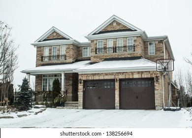 Suburban Homes in Winter
